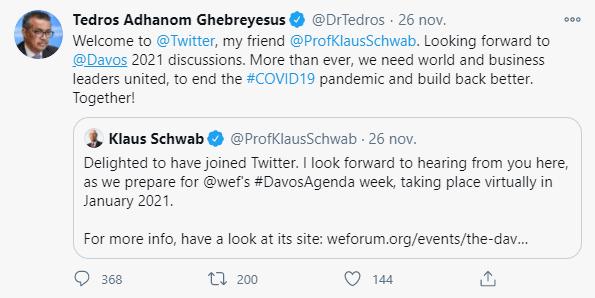 Grand reset : l'OMS de Tedros Adhanom est très amie avec Klaus Schwab !
