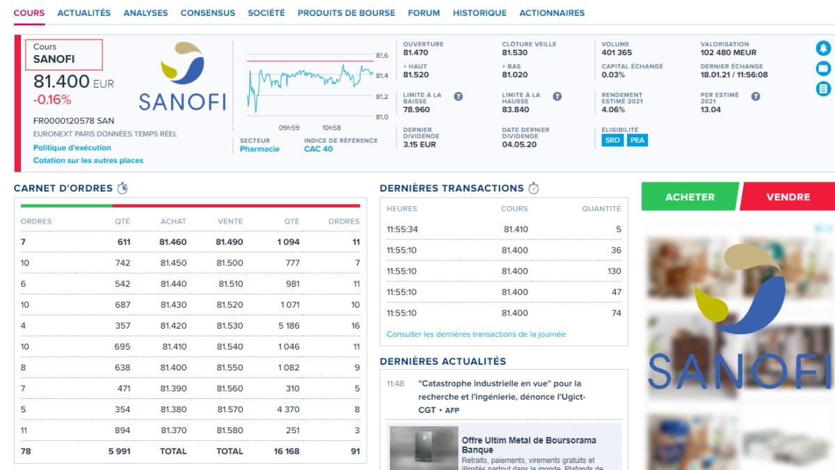 Sanofi veut supprimer 400 postes en recherche et développement