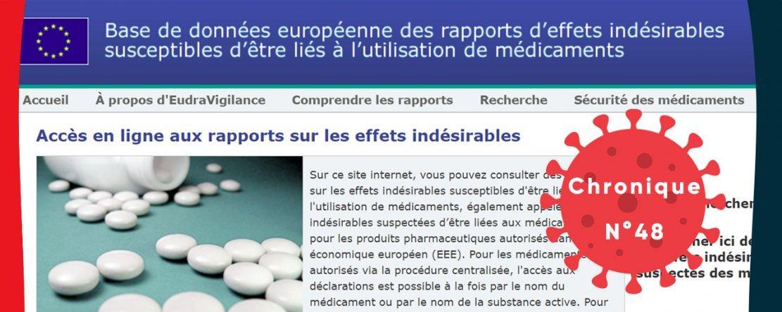 « Déjà 132 décès déclarés dans Eudravigilance seulement 26 jours après l'autorisation de mise sur le marché du vaccin Pfizer »