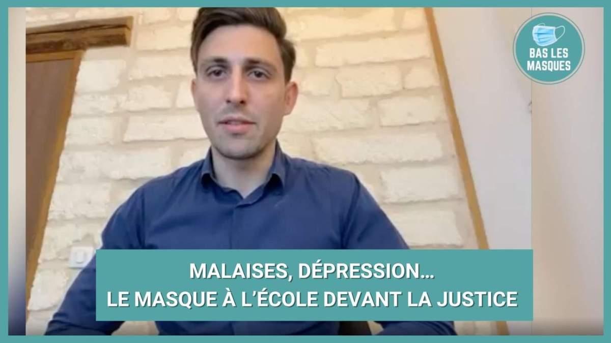 Malaises, dépression… le masque à l'école devant la justice