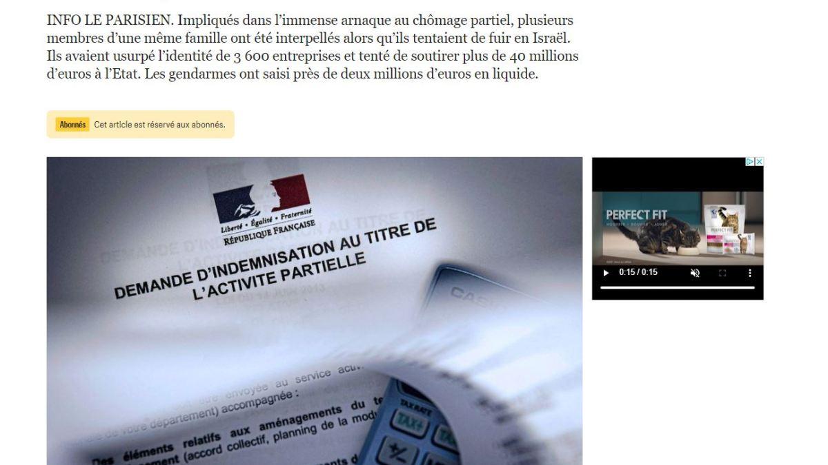 Arnaque au chômage partiel : une famille suspectée d'avoir détourné plus de 11 millions €