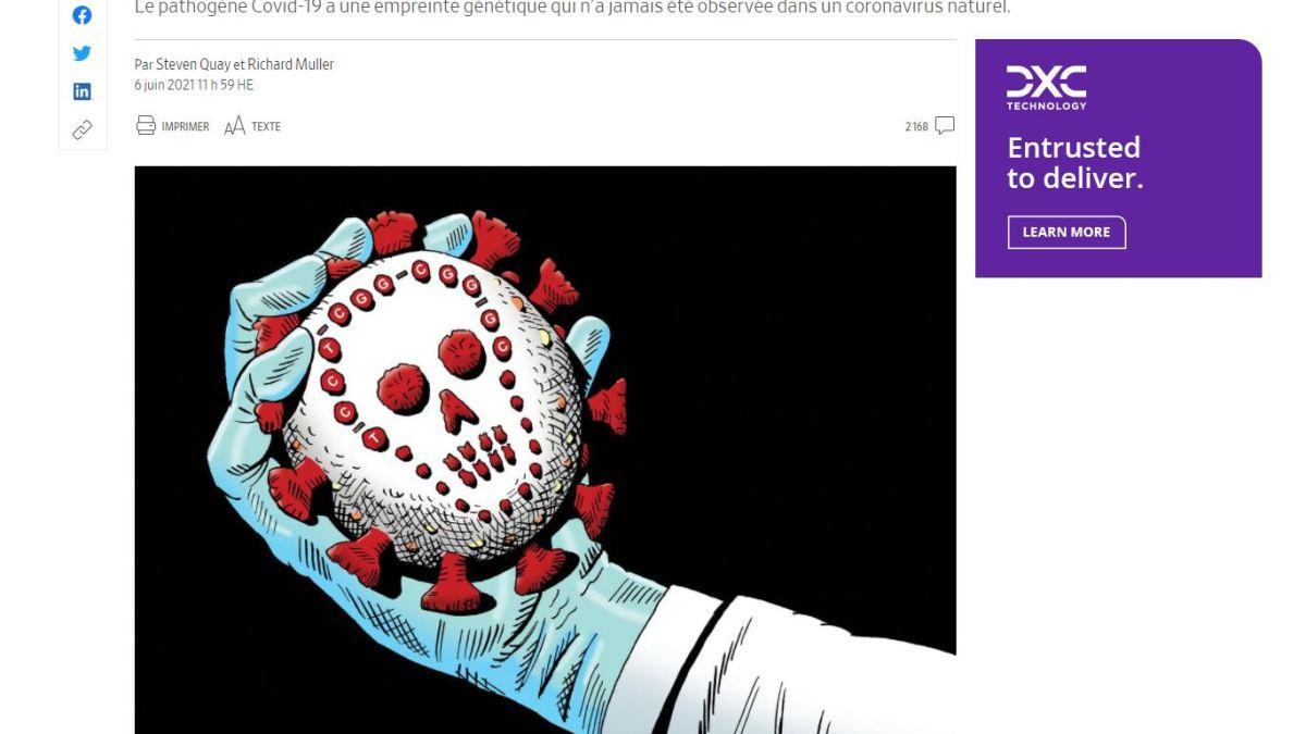 Coronavirus : la science suggère une fuite du laboratoire de Wuhan selon le WSJ !