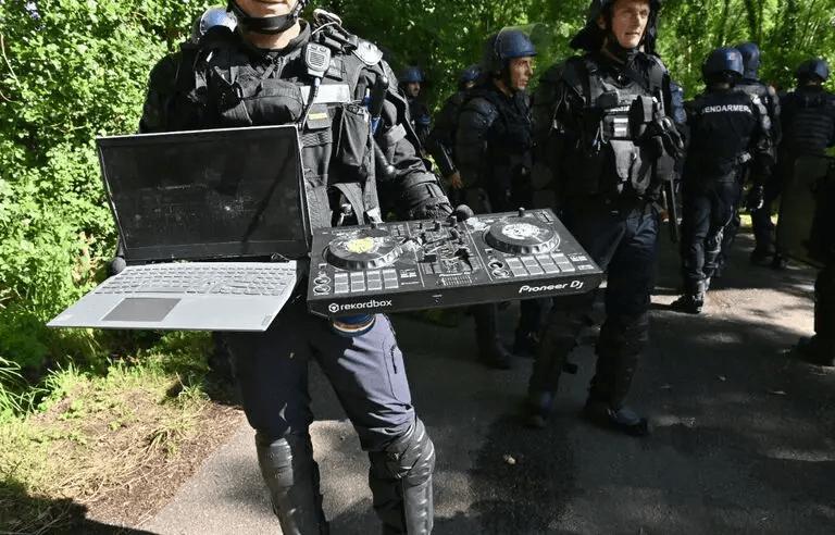 Redon : les gendarmes ont-ils détruit le matériel des teufeurs à coups de hache ?