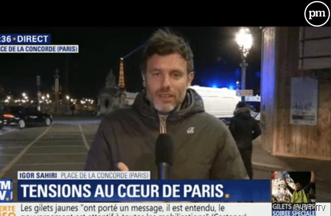 Inversion accusatoire : le mensonge effronté du journaliste Igor Sahiri sur le plateau de BFMTV !