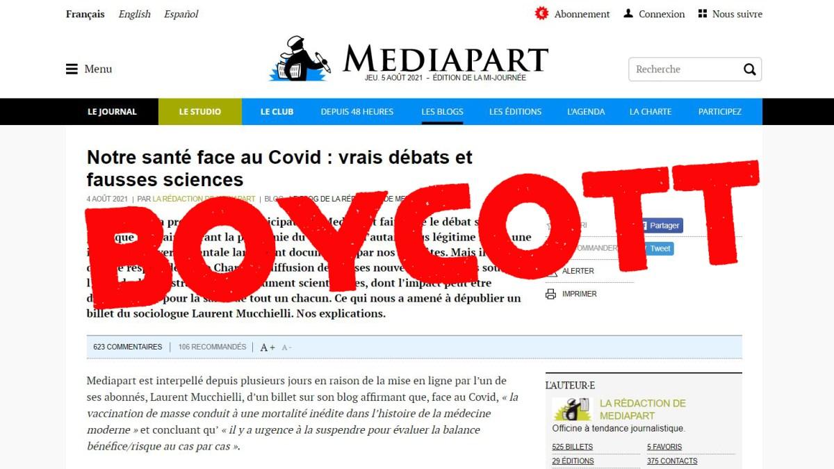 Laurent Mucchielli censuré par Mediapart ! Appel au Boycott