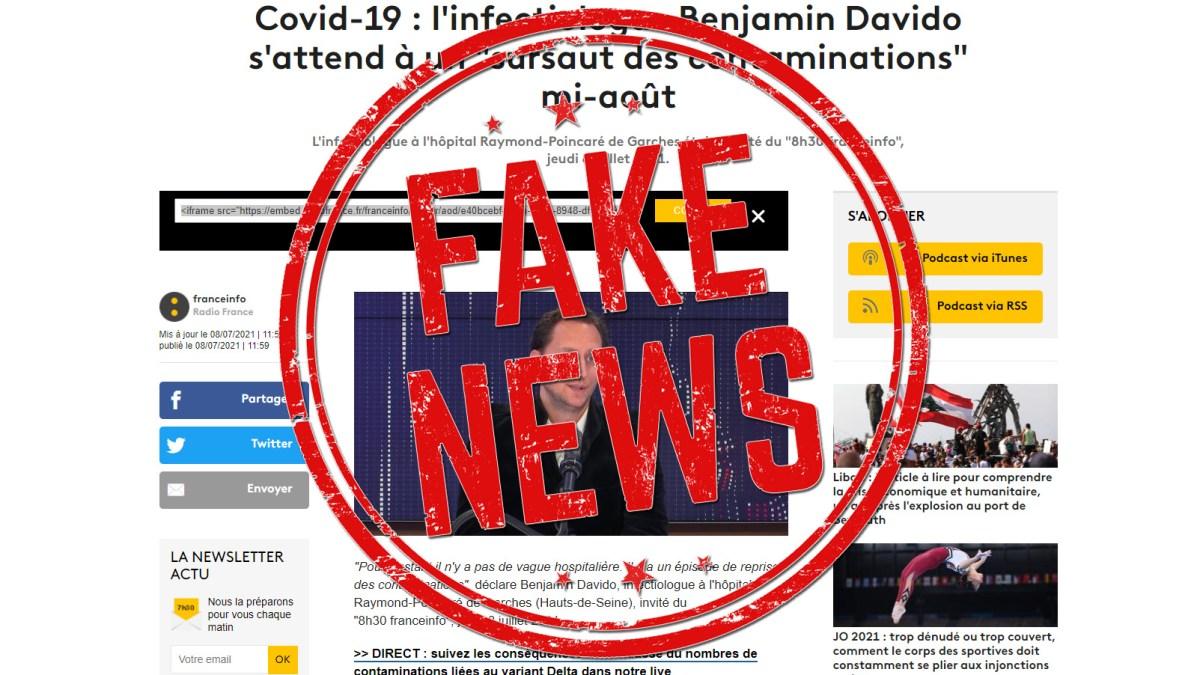 Covid19 : quand le Dr Davido et France info mentent sur le R0 et la contagiosité du variant Delta !