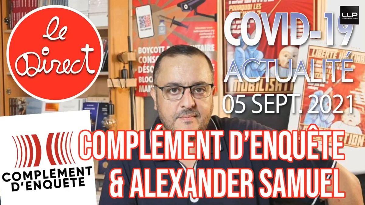 Direct 5 sept. 2021 : Complément d'enquête & Alexander Samuel