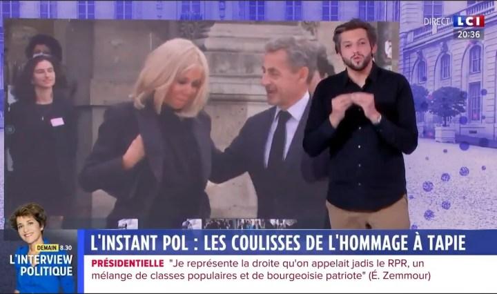 « Mimi » Marchand, tout juste sortie de prison, a organisé l'accueil presse de la messe d'hommage à Bernard Tapie, en présence de Brigitte Macron et Nicolas Sarkozy