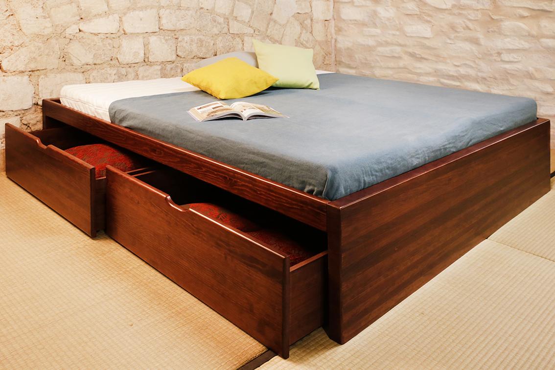 lit tiroir en bois massif pour bien ranger votre chambre le lit massako 400