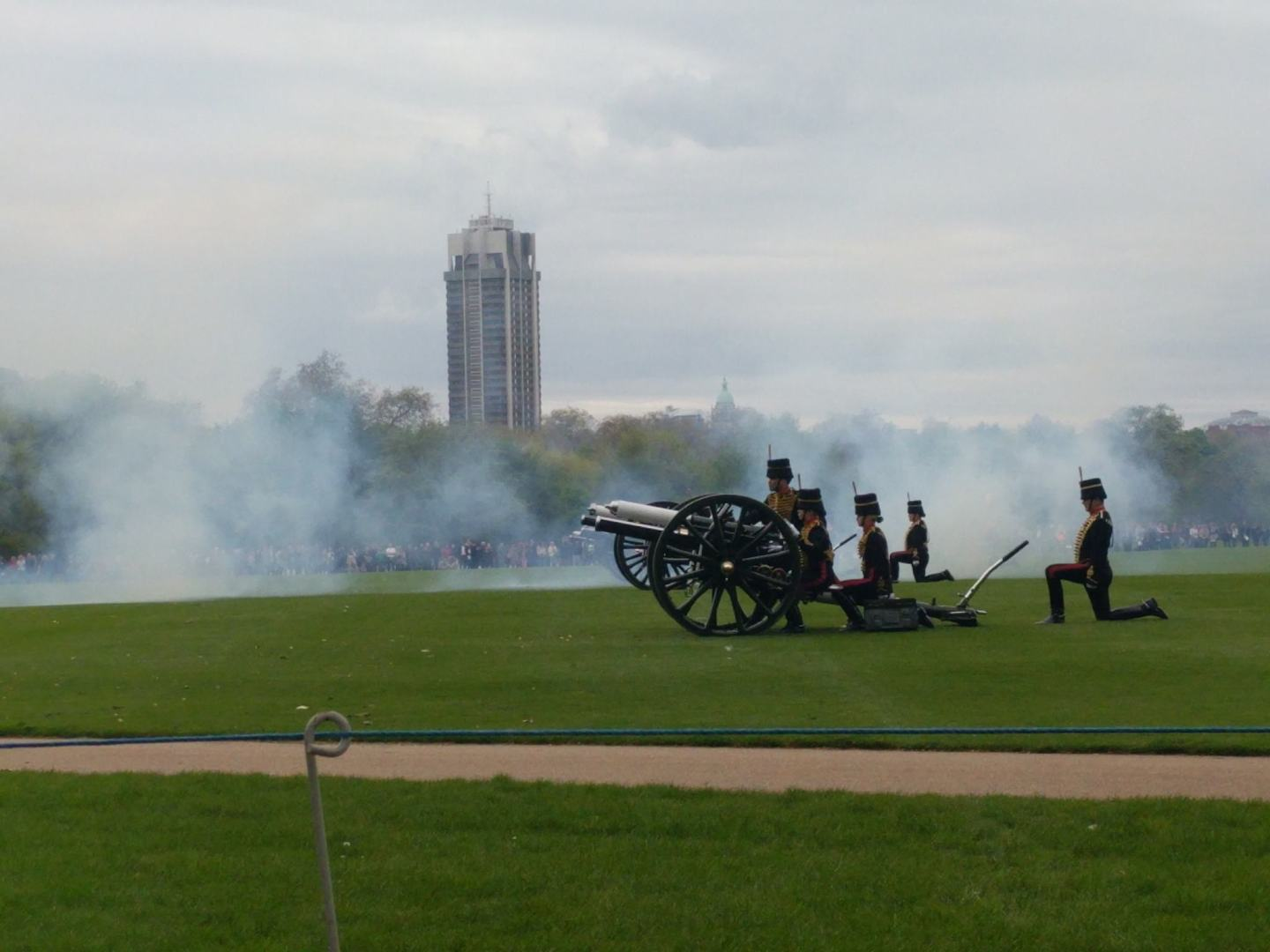A gun salute marks the birth of a royal baby.