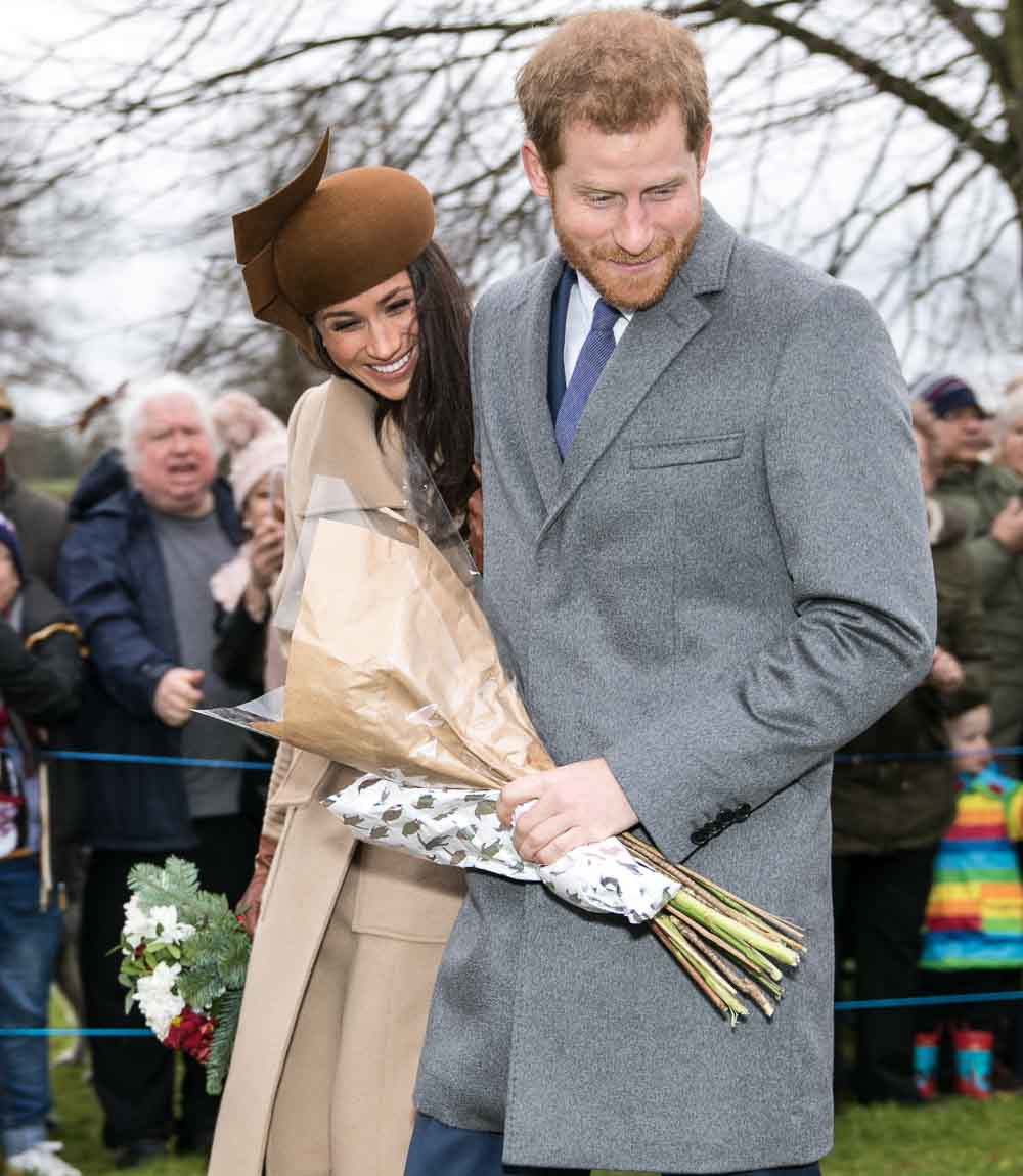 Prince Harry and his wife, Meghan Markle, Christmas 2017.