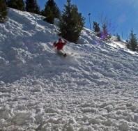 Snö överallt, vilket är kul för en skåning