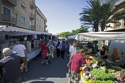 Marknad i Vallecrosia