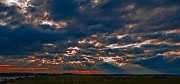 Solnedgång över Skåne