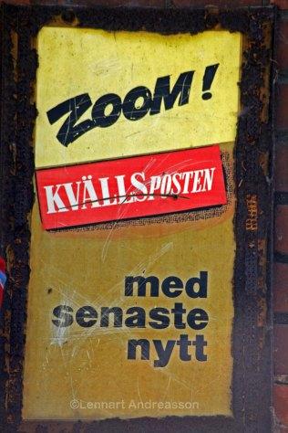 The news paper sign is rusty, Jordberga Sockerbruk
