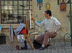 Singing artist in Bassano del Grappa