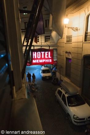Hotel Memphis från rummet