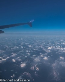 flyg över Mont Blanc