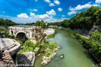 gammal bro över Tibern