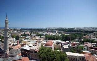 Utsikt över Rhodos stad