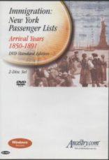 Ancestry: New York Passenger Lists 1850-1891