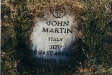 Vecchia lapide della tomba di John Martin (foto J.Martino)