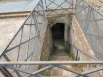 Tomba dei Valeri: le scale per la camera sotterranea
