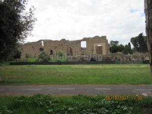 Terme di Caracalla: facciata NE