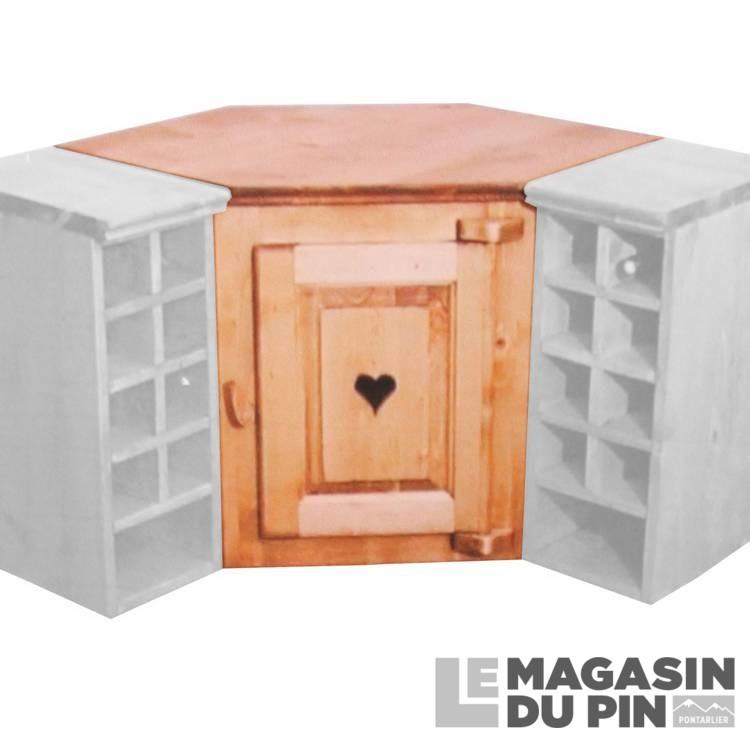meuble haut d angle 1p cuisine chamonix
