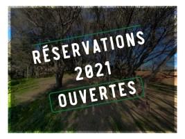 Réservations 2021 ouvertes !