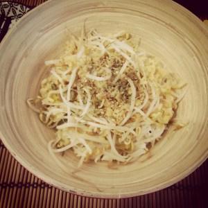 Basmati con germogli di soia e lenticchie rosse