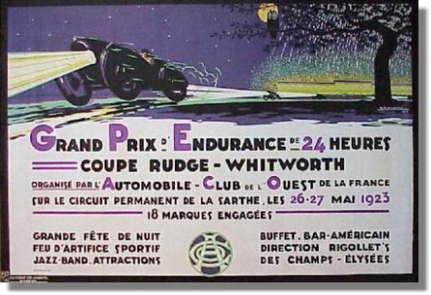 first winner of the 24 hours of le mans