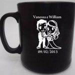 Canecas de cafe william e vanessa