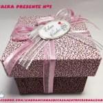 Caixa presente nº 1 rosa com marrom 2
