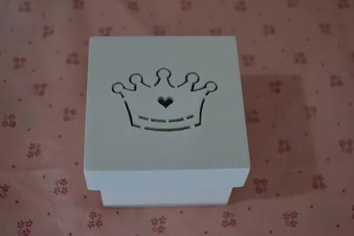 Caixinhas de MDF, caixinha bem casado 6×6 coroa