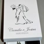 Caixinhas de MDF, caixa chandon II Camila e Josias