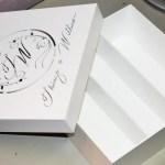 Caixinhas de MDF com monograma personalizadas a laser