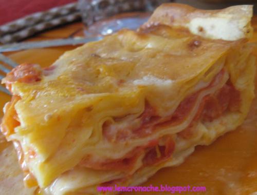 lasagna solo pomodoro ricetta