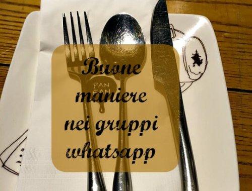 buone maniere nei gruppi whatsapp