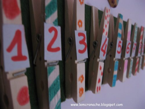calendario avvento mollette legno