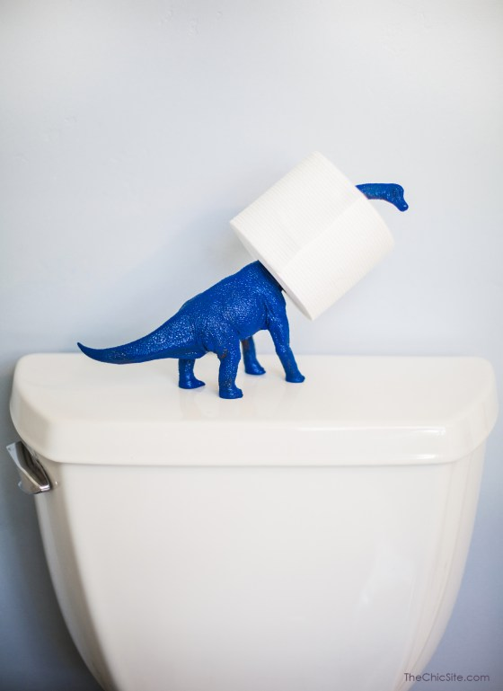 DIY upcycling dinosaure