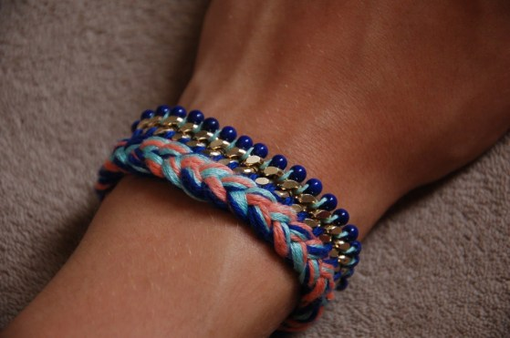 diy bracelet chaine et perles