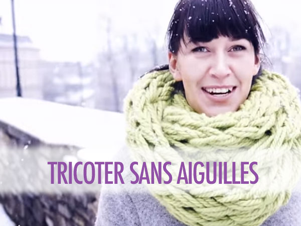 tricoter un snood bras