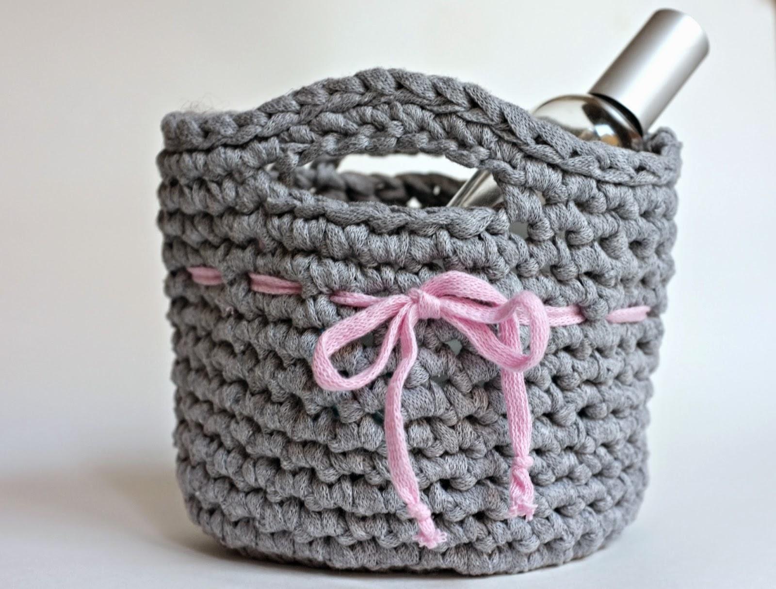 diy panier en crochet pour les d butantes le meilleur du diy. Black Bedroom Furniture Sets. Home Design Ideas