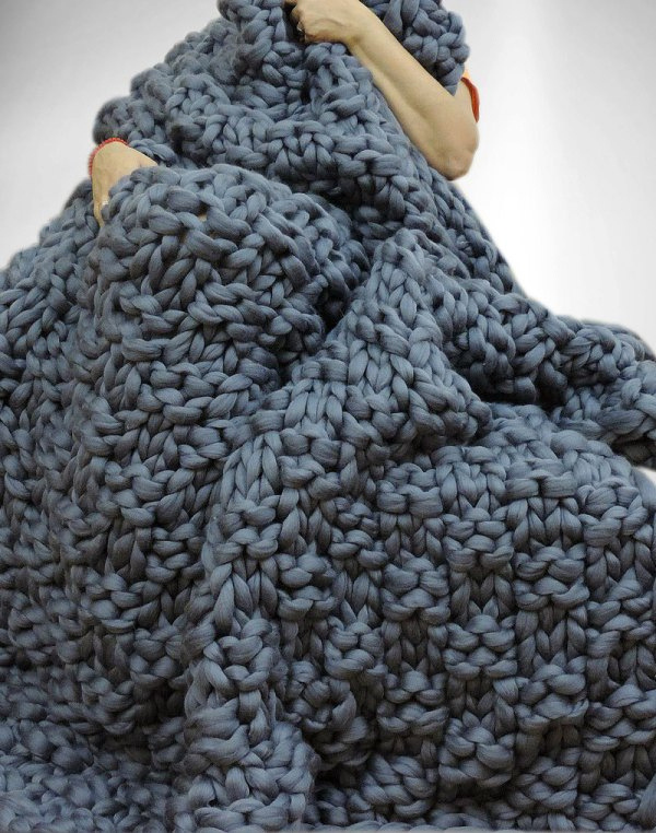 Maxi Couverture en laine géante