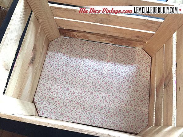 DIY caisse en bois vintage étape 7