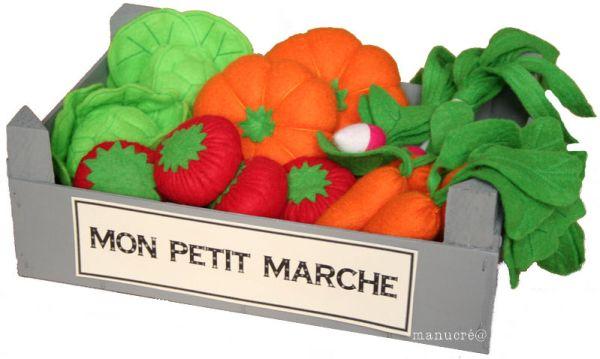 tutorial feutrine legumes dans un panier
