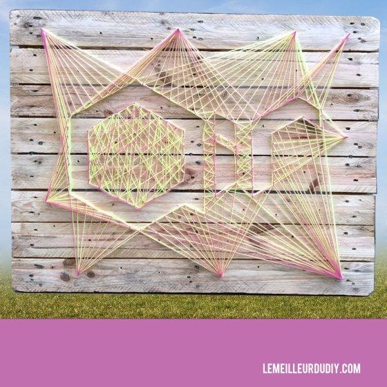 DIY tutorial string art sur une palette