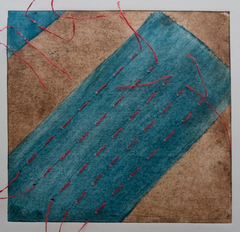 Collagraph, paper, ink, silk, 250 $