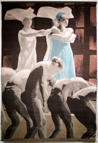 Tissage Jacquard, coton et lin, teinture, 3 000 $
